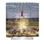 3 2 1 Launch Shower Curtain