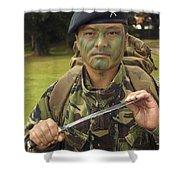 A British Army Gurkha Shower Curtain