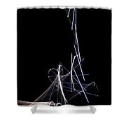 A Dropped Pin Shower Curtain