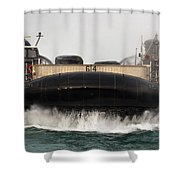 A Landing Craft Air Cushion Approaches Shower Curtain