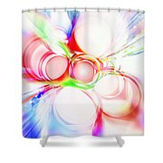 Abstract Of Circle  Shower Curtain by Setsiri Silapasuwanchai
