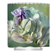 Alfalfa In Shades Of White Shower Curtain