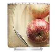 3 Apples Shower Curtain