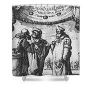 Aristotle, Ptolemy And Copernicus Shower Curtain