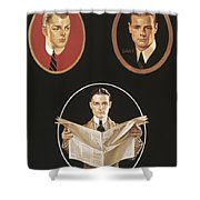 Arrow Shirt Collar Ad Shower Curtain