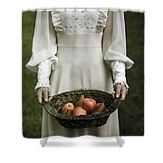 Basket With Fruits Shower Curtain by Joana Kruse