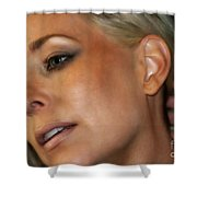 Blond Woman Shower Curtain