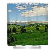 Bridger Mountain View Shower Curtain
