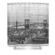 Brooklyn Bridge, 1883 Shower Curtain