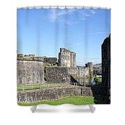 Caerphilly Castle Shower Curtain