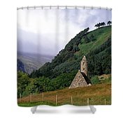 Chapel Of Saint Kevin At Glendalough Shower Curtain