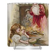 Christmas Card Shower Curtain by American School