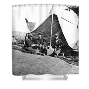 Civil War: Union Soldiers Shower Curtain