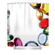 Colorful Gems Shower Curtain
