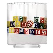 Dyslexia Shower Curtain