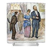Election Cartoon, 1877 Shower Curtain