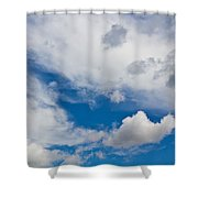 English Summer Sky Shower Curtain