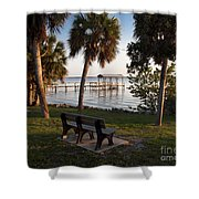 Evening On The Indian River Lagoon Shower Curtain