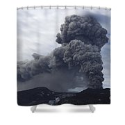 Eyjafjallajökull Eruption, Iceland Shower Curtain