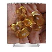 Fish Oil 1200mg And Vitamin E Shower Curtain