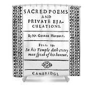 George Herbert (1593-1633) Shower Curtain