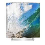 Glassy Breaking Wave Shower Curtain