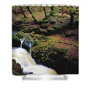 Glenmacnass Waterfall, Co Wicklow Shower Curtain