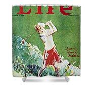 Golfing: Magazine Cover Shower Curtain