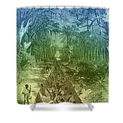 Grants Canal, 1862 Shower Curtain