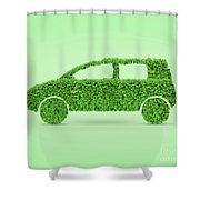 Green Car Shower Curtain