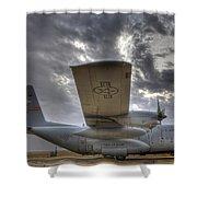 High Dynamic Range Image Of A U.s. Air Shower Curtain