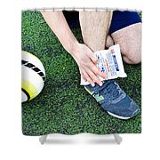 Injured Ankle Shower Curtain by Photo Researchers