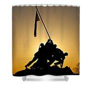 Iwo Jima Memorial Shower Curtain