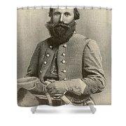 Jeb Stuart, Confederate General Shower Curtain