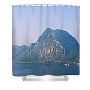 Lago Di Lugano Shower Curtain by Joana Kruse