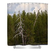Lake Huosius At Hossa Shower Curtain