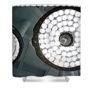 Led Surgical Lights Shower Curtain