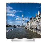 London Eye And County Hall Shower Curtain