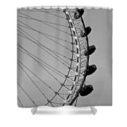 London Eye  Shower Curtain