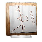 Love - Tile Shower Curtain
