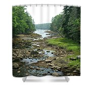 Low Tide In Maine Part Of A Series Shower Curtain