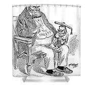 Mckinley Cartoon, 1900 Shower Curtain