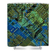 Microprocessor Shower Curtain