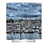 Milford Haven Marina Shower Curtain