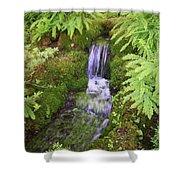 Mossy Waterfall Shower Curtain