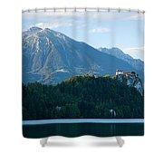 Mountain Backdrop Shower Curtain