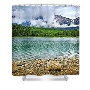 Mountain Lake In Jasper National Park Shower Curtain