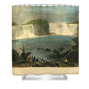 Niagara Falls, 1837 Shower Curtain