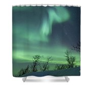 Northern Lights In The Arctic Shower Curtain