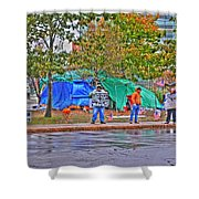 Occupy Buffalo Shower Curtain